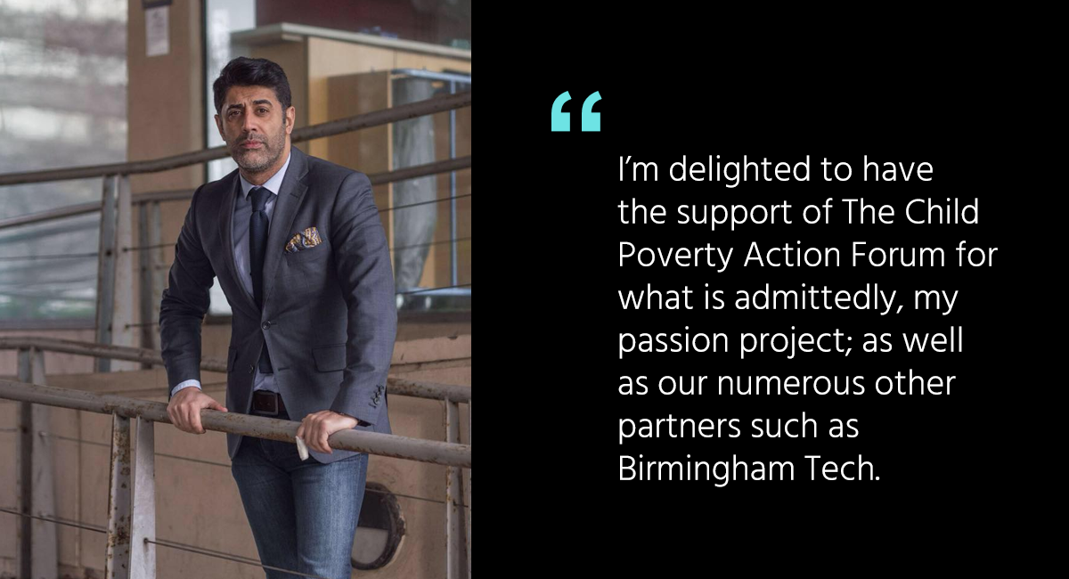 Qasim Majid aims to eradicate digital poverty